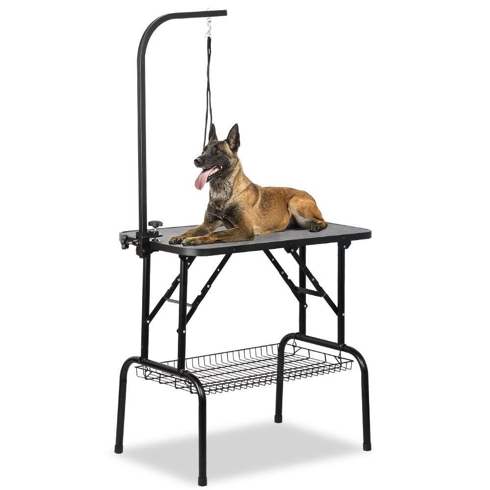 go2buy Adjustable Pet Grooming Table with Arm/Noose and Mesh Tray 32 x 18 x 30 inch by go2buy (Image #1)