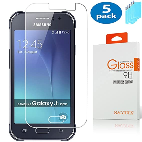5 Pack Nacodex For Samsung Galaxy J1 Ace Tempered Glass Screen Protector