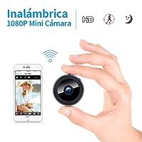 Mini cámara Oculta espía HD WiFi FREDI con visión Nocturna y conexión remota Desde iPhone/Android / iPad y detección de Movimiento y con Ranura de expansión de Memoria 128GB.