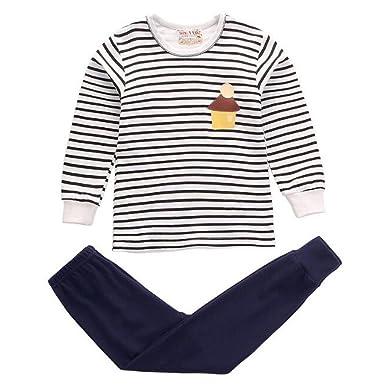 Hzjundasi Unisex Children Boys Girls 2pcs Pajamas Set Nightclothes