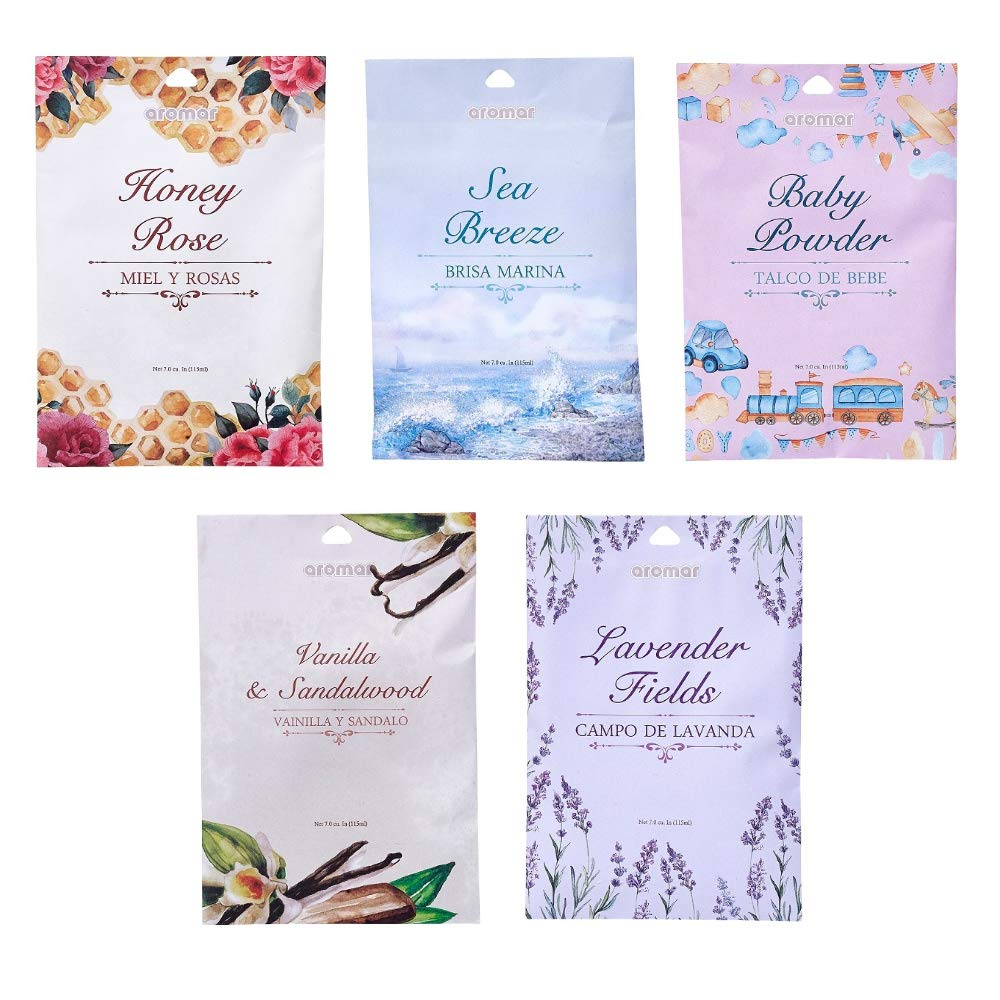 10 Scented Fragrance Sachet Pouch Air Freshener Wardrobe Home Drawer Perfume Bag by AllTopBargains (Image #2)