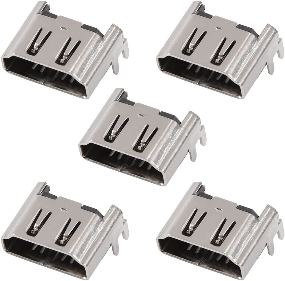Eboxer 5 Pcs Socket Interface Connector HDMI Port for Sony Playstation 4 PS4 Console Replacement Accessory
