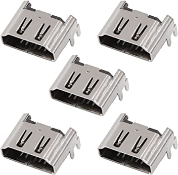 Eboxer 5PCS Conector de Interfaz de Enchufe de Puerto HDMI para Consola de Sony Playstation 4 PS4: Amazon.es: Electrónica