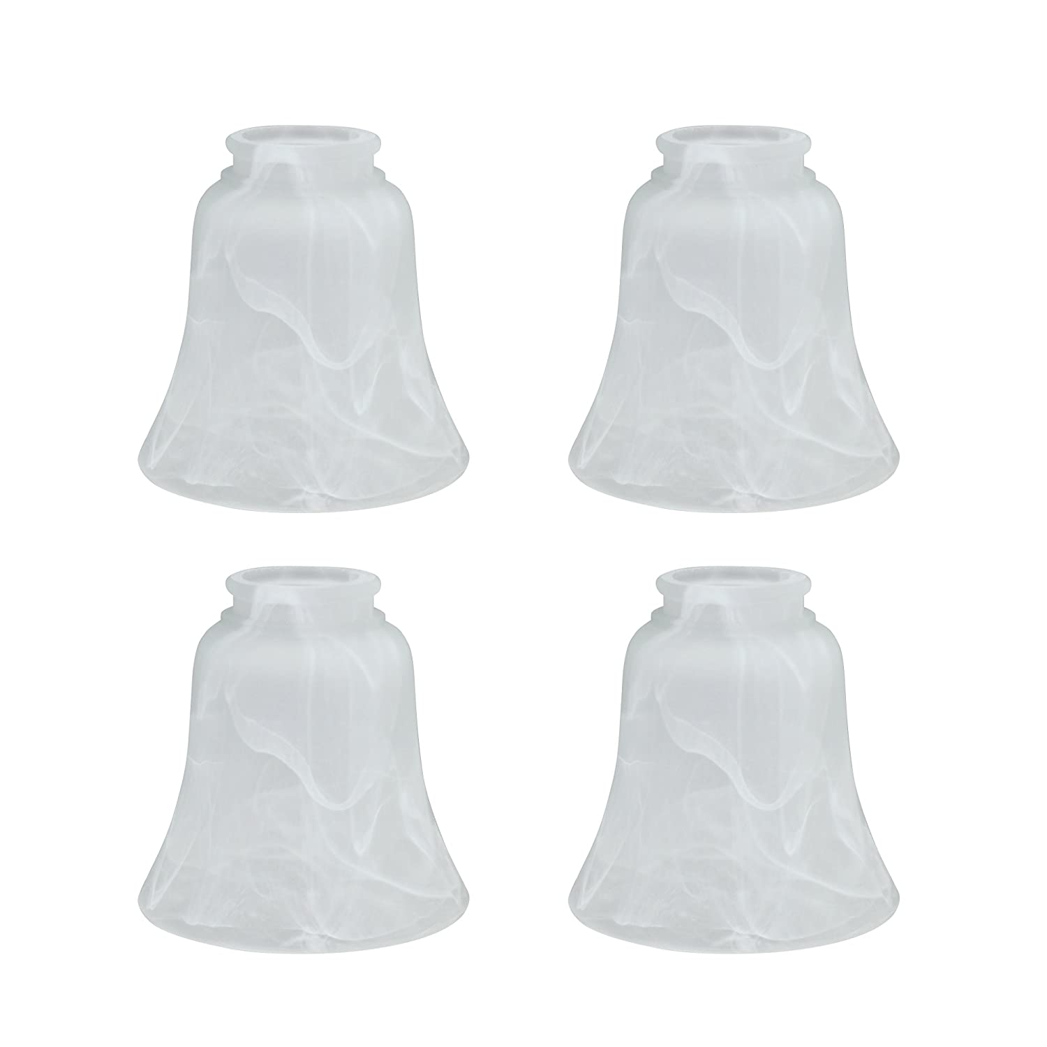 Alabaster Aspen Creative 23030-4 Transitional Style Replacement Bell Shaped Glass Shade 4 Pack 4 3//4 high x 4 3//4 Diameter