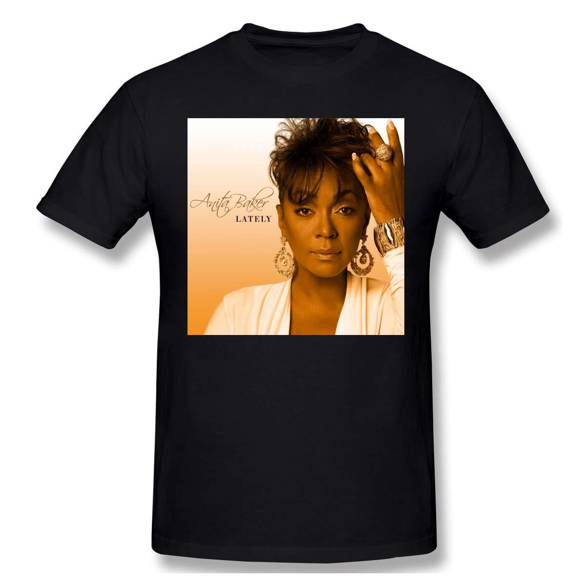 Jaostep Anita Baker Rapture Man Basic Short Sleeve Fashion Black Shirts