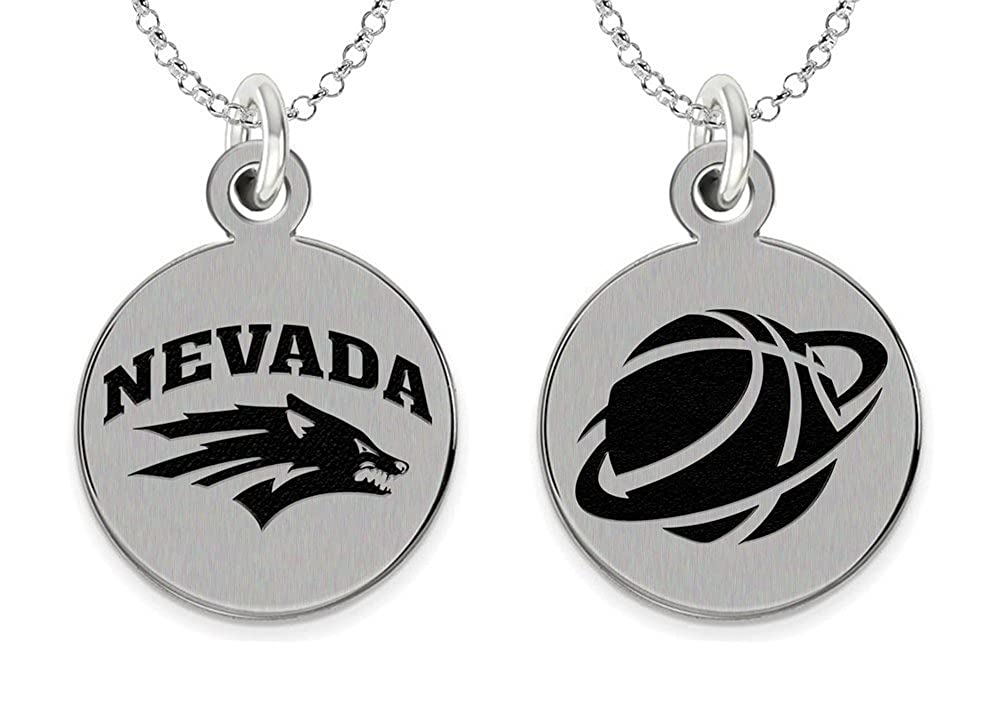 76a5510a3 Amazon.com: College Jewelry Nevada Reno Wolf Pack Basketball Charm: Jewelry