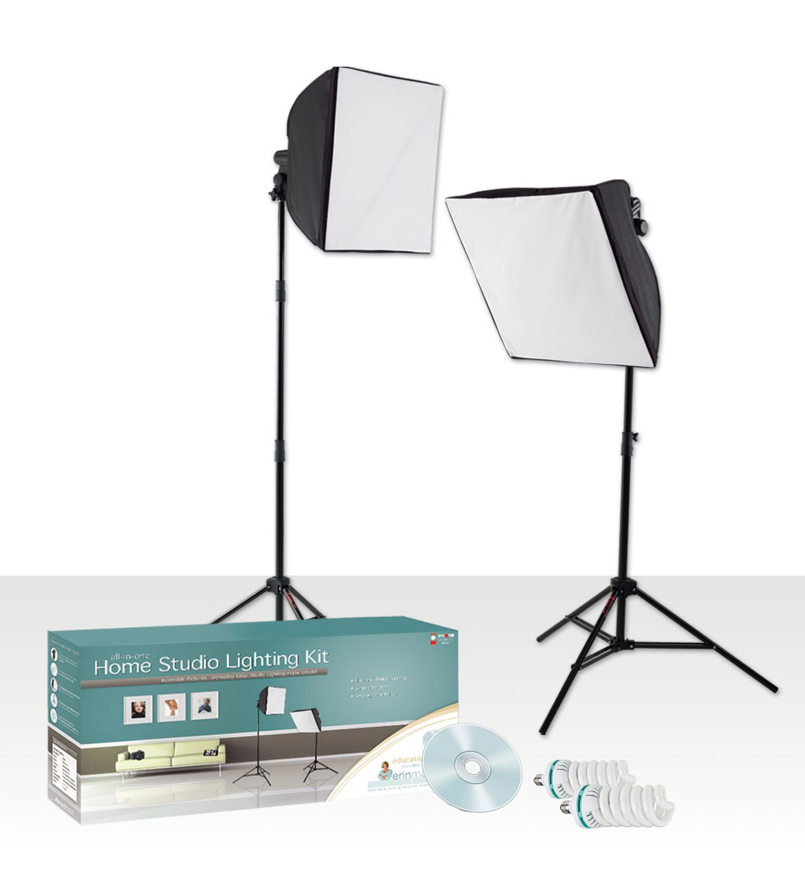 Amazon.com : Westcott Erin Manning Home Studio Lighting Kit ...