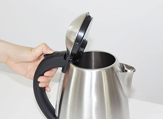 AMTALOS-ERG709-Hervidor de agua de 1, 7 litros de capacidad, potencia de 1800W, libre de BPA y material de acero inoxidable pulido de grado 304 apto para ...