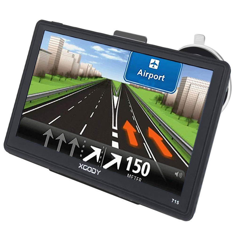 GPS Voiture Navigatio Xgody 7 Pouces écran Tactile Capacitif Camion Satellite Navigator Système avec Gratuit à vie EU et Mises à Jour de Cartes Speed Limit
