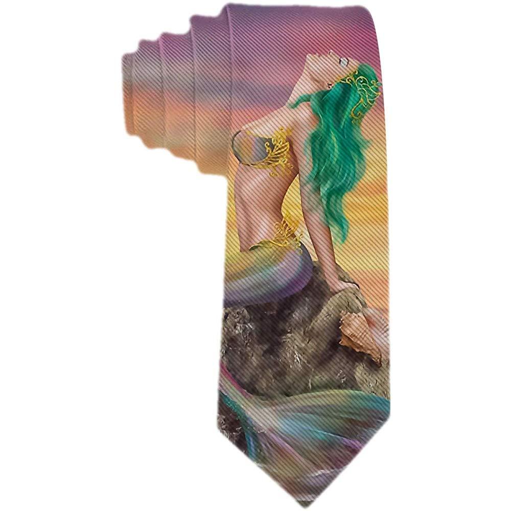 Corbata para hombre SireNA hermosa con cola arcoíris y cabello ...