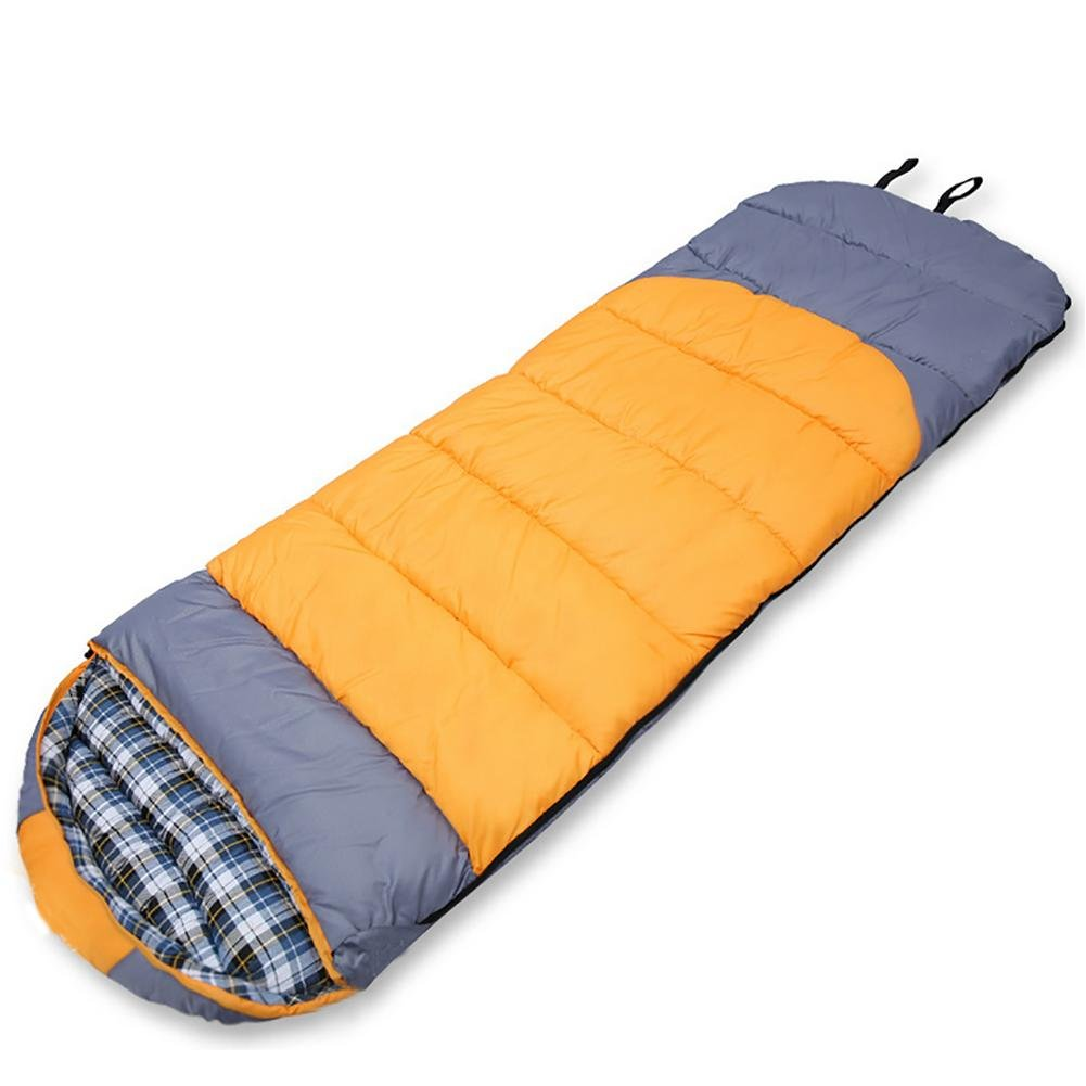 MIAO Outdoor Adult Thick Camping Cotton Sleeping Bags , yellow