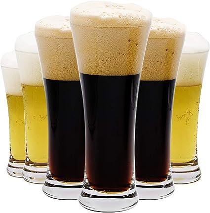 Umi. Essentials - Juego de 6 vasos de pinta para cerveza, agua o refrescos, 340 ml