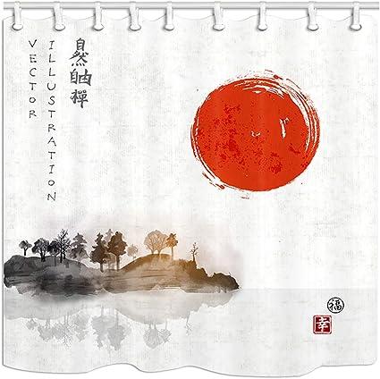 KOTOM Tinta Japonesa Tradicional Que Pinta árboles Sumi-e en ...