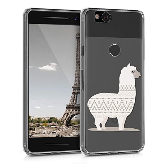 buy online 66983 ec32a kwmobile TPU Silicone Case for Google Pixel 2 - Crystal Clear Smartphone  Back Case Protective Cover - Champagne/Transparent