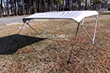 Grey Vortex 4 Bow Bimini Top 6' Long, 85-90'' Wide, 54'' High, Complete Kit, Frame, Canopy, and Hardware (FAST SHIPPING - 1 TO 4 BUSINESS DAY DELIVERY)