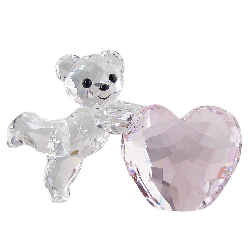 スワロフスキー SWAROVSKI フィギュリン Kris ベア Pink Heart フィギュア オブジェ 置物 5265323 [並行輸入品] B071RDL5NY
