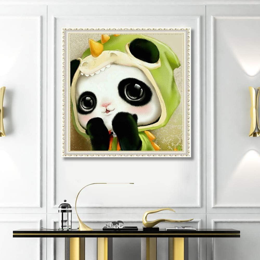 Kit pittura numeri,panda diamond painting kit completo,pittura diamante 5d fai da te ricamo punto croce dotz per la decorazione dArte Regalo 30 30cm