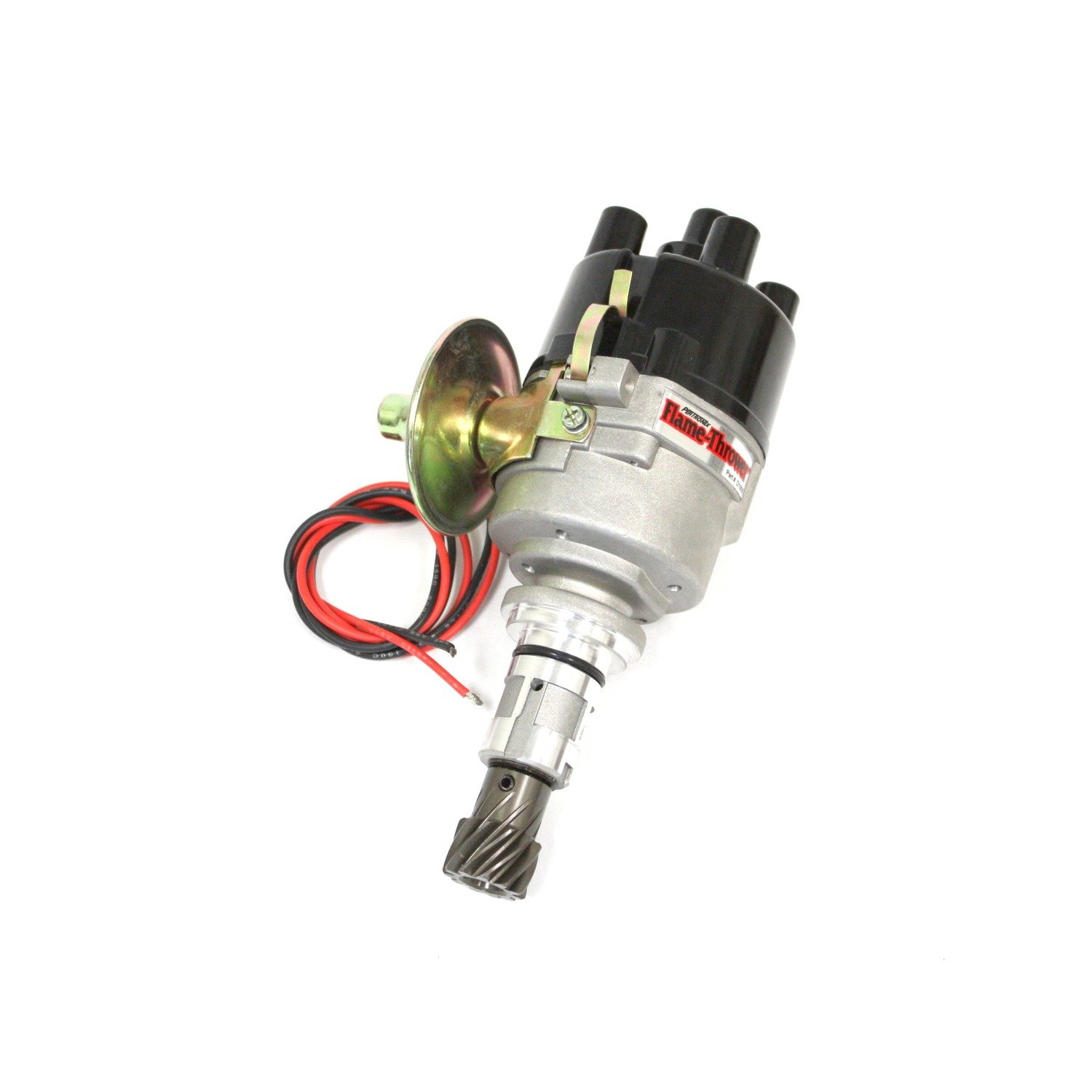 Pertronix D190600 Flame-Thrower Plug and Play Vacuum Advance Top Exit Cap Cast Electronic Distributor with Ignitor II Technology for Ford X-Flow 4 Cylinder Engine