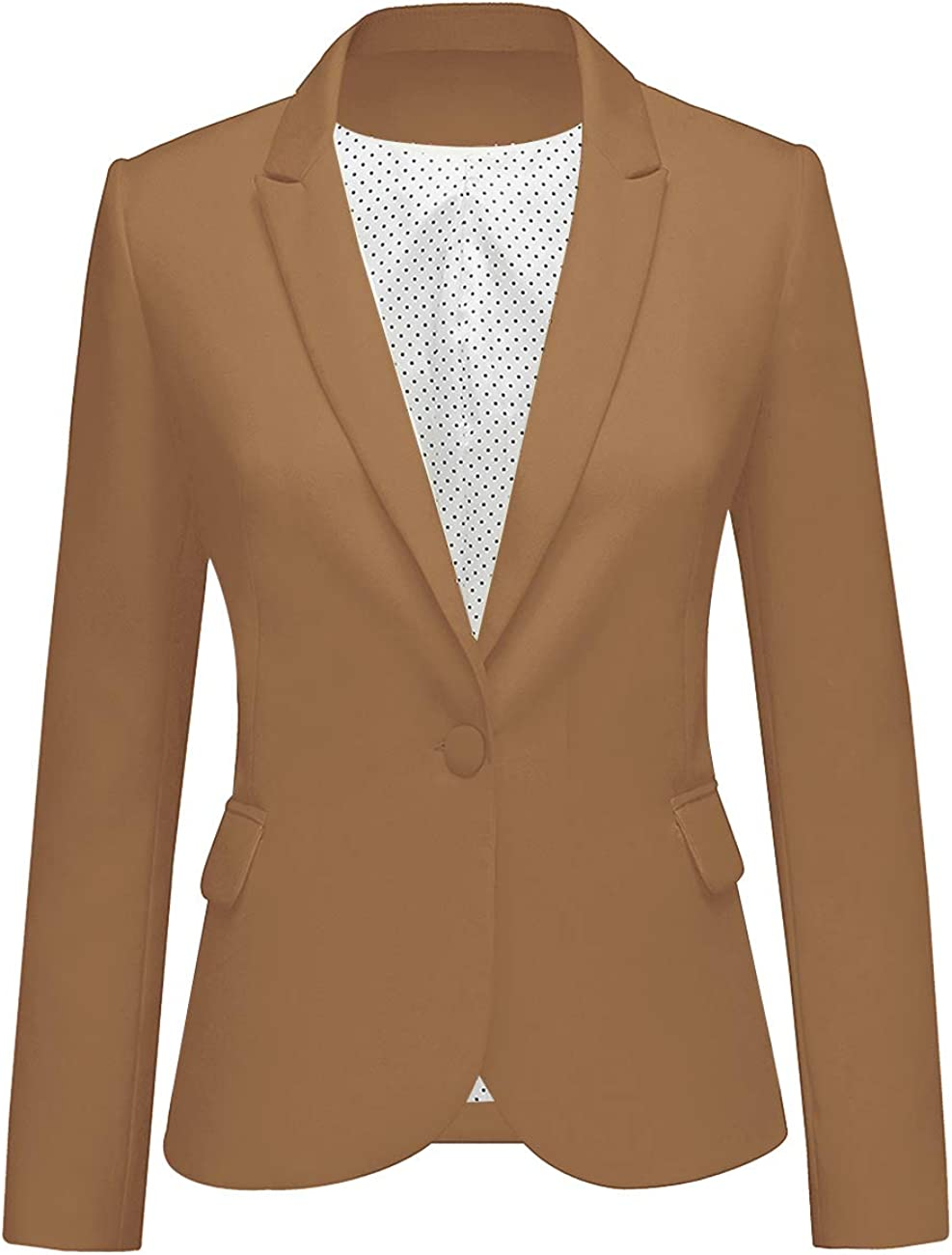 LookbookStore Womens Notched Lapel Pocket Button Work Office Blazer Jacket Suit