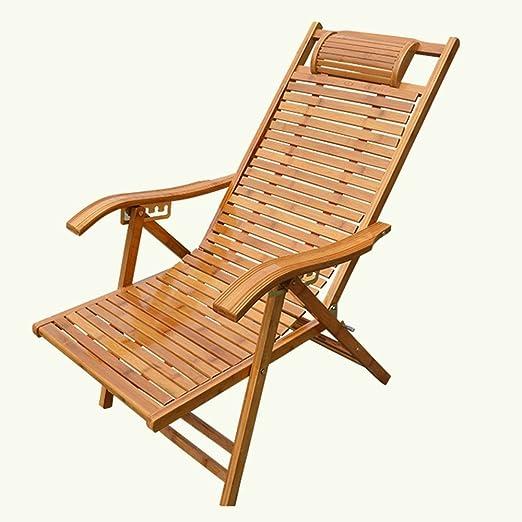 Amazon.com: GWDJ - Sillas de tumbona de bambú para adultos ...