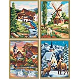 Schipper 609340552 The Four Seasons Paint by Numbers Board