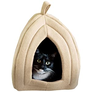 Cat Pet Bed, Igloo- Soft Indoor Enclosed Covered Tent/House for Cats, Kittens, and Small Pets