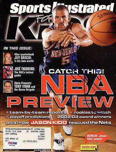 9e0dba0e097 Jason Kidd Signed Sports Illustrated Magazine New Jersey Nets - PSA DNA  Authentication - NBA Basketball Memorabilia at Amazon s Sports Collectibles  Store