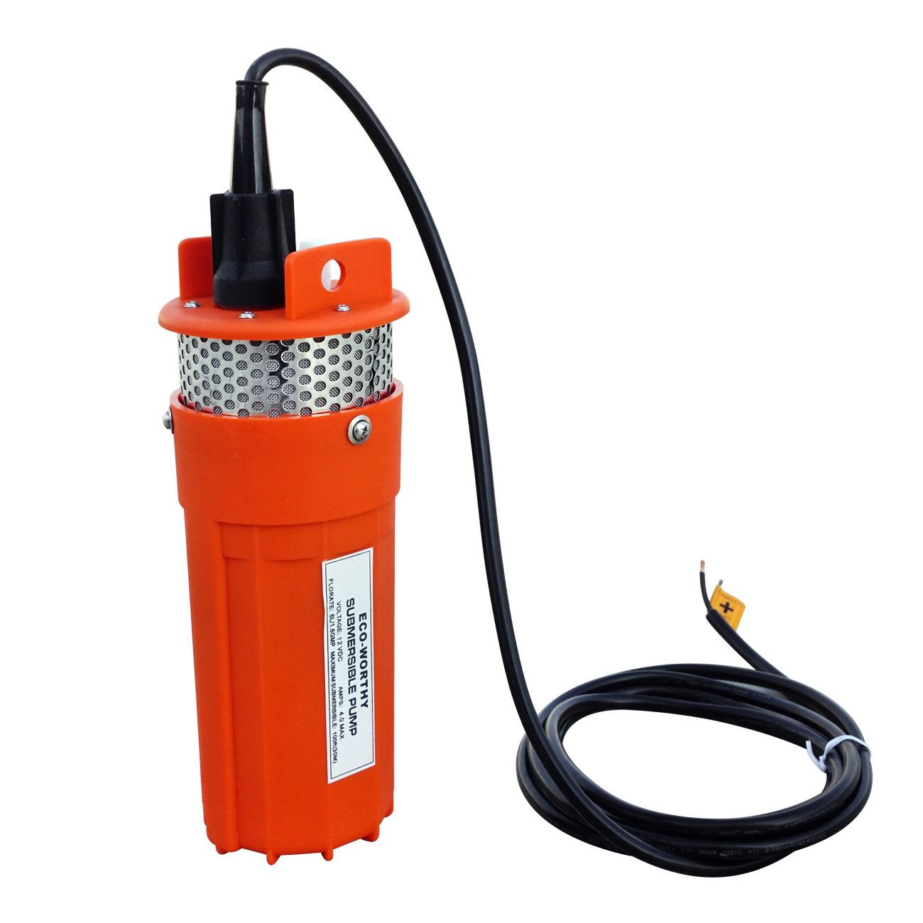 ECO-WORTHY DC 12V Solar Energy Submersible Deep Well Water Pump with 3m(10 ft) Cable