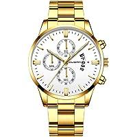 CUENA Reloj de Pulsera para Hombre, Análogo, Elegante, Formal, Ejecutivo, Exclusivo, Moderno, Trabajo, con Calendario…