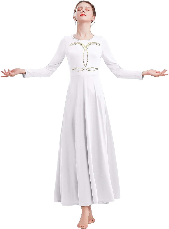 IBAKOM Womens Prom Ballroom Dance Dress Swing Superlatite Super sale period limited Party Dancewear Lo