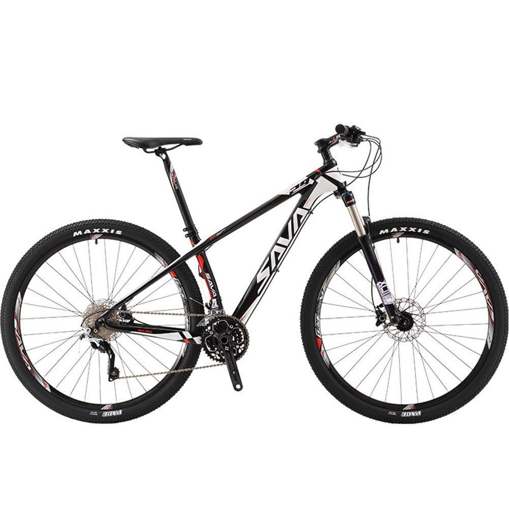 自転車 マウンテンバイク 炭素繊維フレーム カーボンファイバー 超軽量 シマノXT変速30速 29インチ B078V2JKWF ホワイト ホワイト