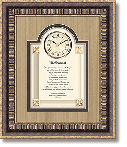 Retirement - Wall Clock, 15'' W x 18'' H. by AT001