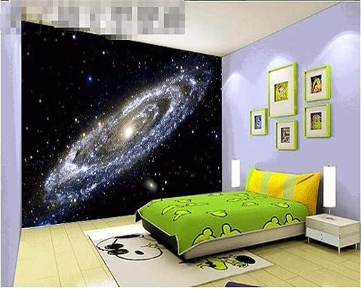 Papel pintado Papel tapiz 3D Galaxy Bright Black Hole Techo Mural ...