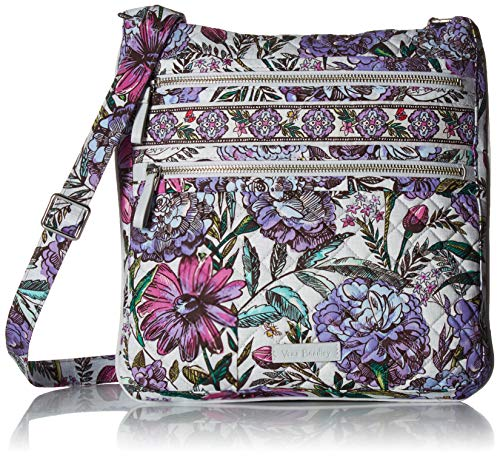Vera Bradley Iconic Triple Zip Hipster, Signature Cotton, Lavender Meadow -