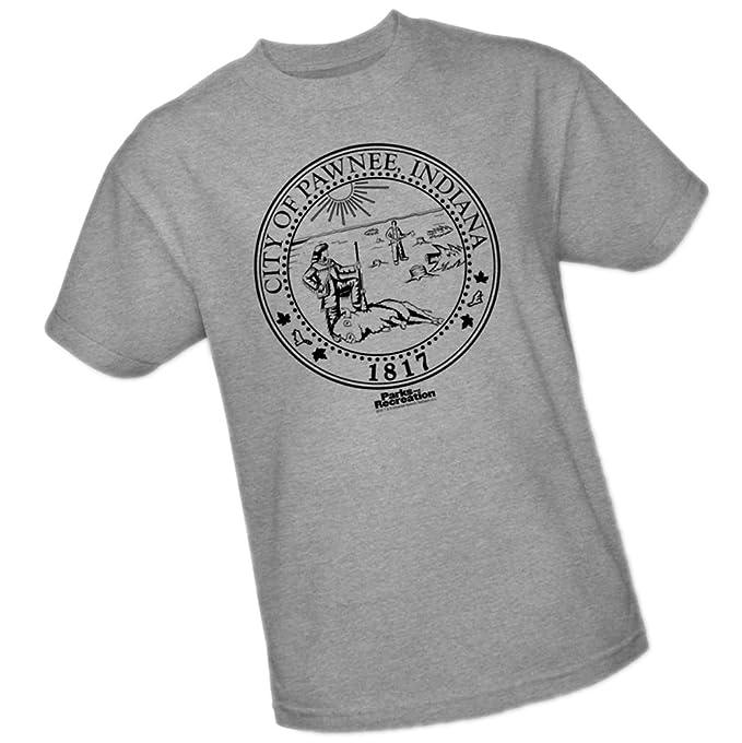 a07548f6c9e Amazon.com  Pawnee Seal -- Parks   Recreation Adult T-Shirt  Movie ...