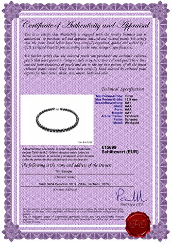 Noir 9-10.9mm AA+-qualité de Tahiti 585/1000 Or Blanc-Collier de perles