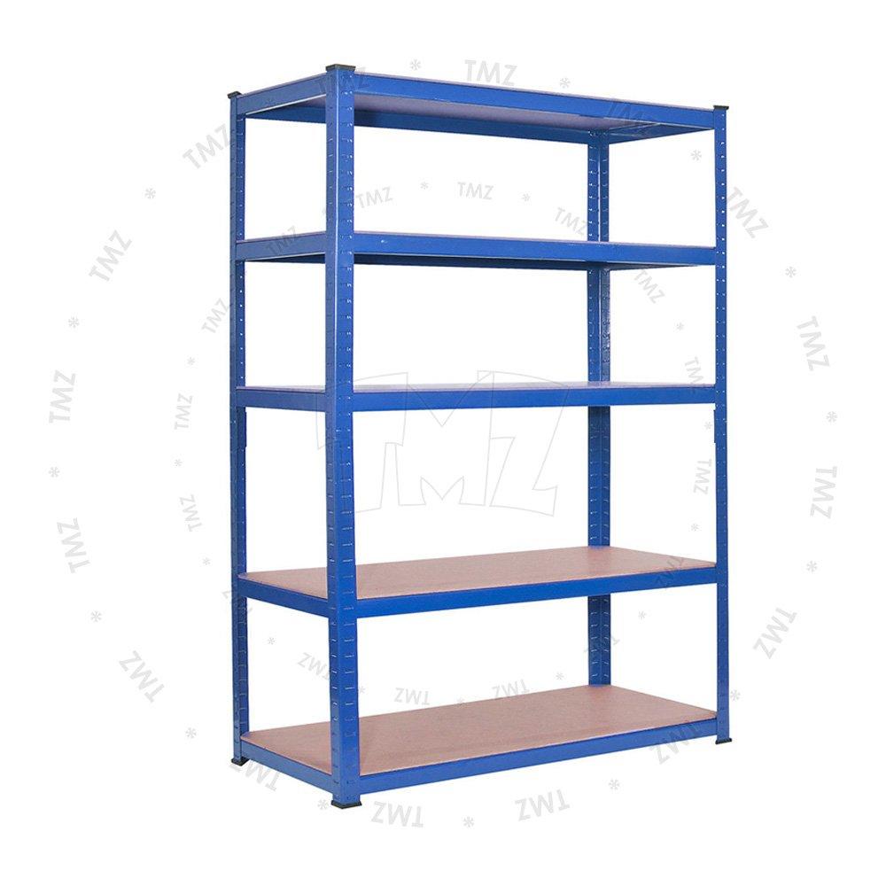 (1800 x 1200 x 400)mm heavy duty boltless metal steel shelving shelves storage unit Industrial BLUE TMZ ©