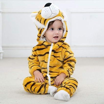 88569b692a184 ベビー服 着ぐるみ パンダ トラ ウサギ コスチューム モコモコ ロンパース カバーオール 仮装衣装 柔らか パジャマ 子供服 満月