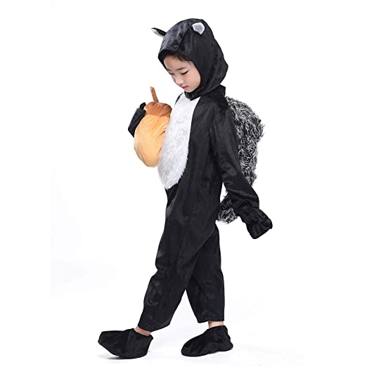 boys squirrel costume jungle animals party halloween cosplay fancy dress with tail pinecone squirrel