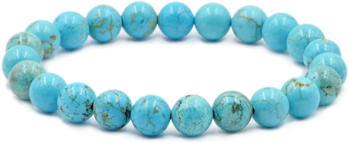 AD Beads Natural Gemstone Round Beads Stretch Bracelet Healing Reiki 8mm