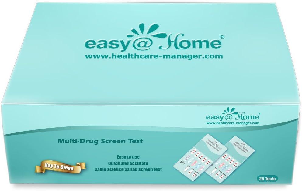 Easy@Home 50 Pack 4 Panel Instant Urine Drug Test - Cocaine (COC), Marijuana (THC), Opiates (OPI), Methamphetamine (mAMP/MET) EDOAP#144