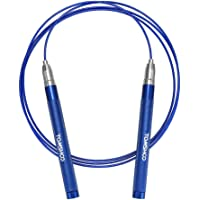 TOMSHOO Upgraded Self-Locking Adjustable Length Lightweight Jump Rope (Blue)