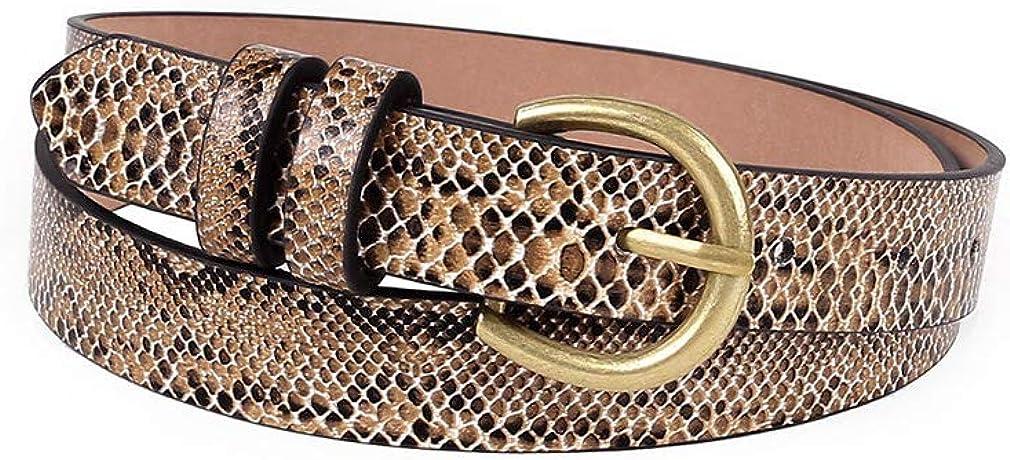 Snakeskin Print Belt /...