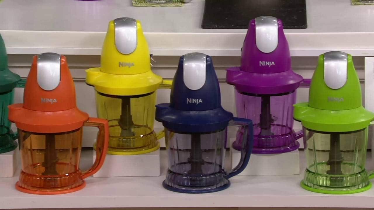 Ninja Storm Blender with 450 Watts Food Drink Maker Food Processor – QB751QPR – Renewed Purple