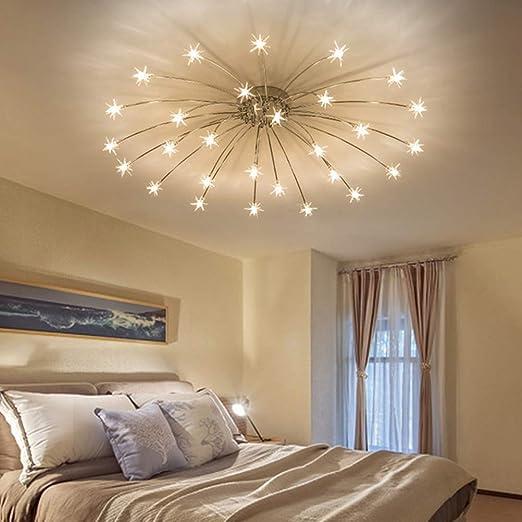Wohnzimmer Deckenleuchte Wave Schlafzimmer Decken Lampe mit Glas Schirm Rund