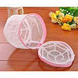 EasyBuy India Multifunction Wash Protect Bag Bra Care With Hanger Bra Underwear Storage Drying Rack Basket Laundry Bags & Baskets 17x14cm