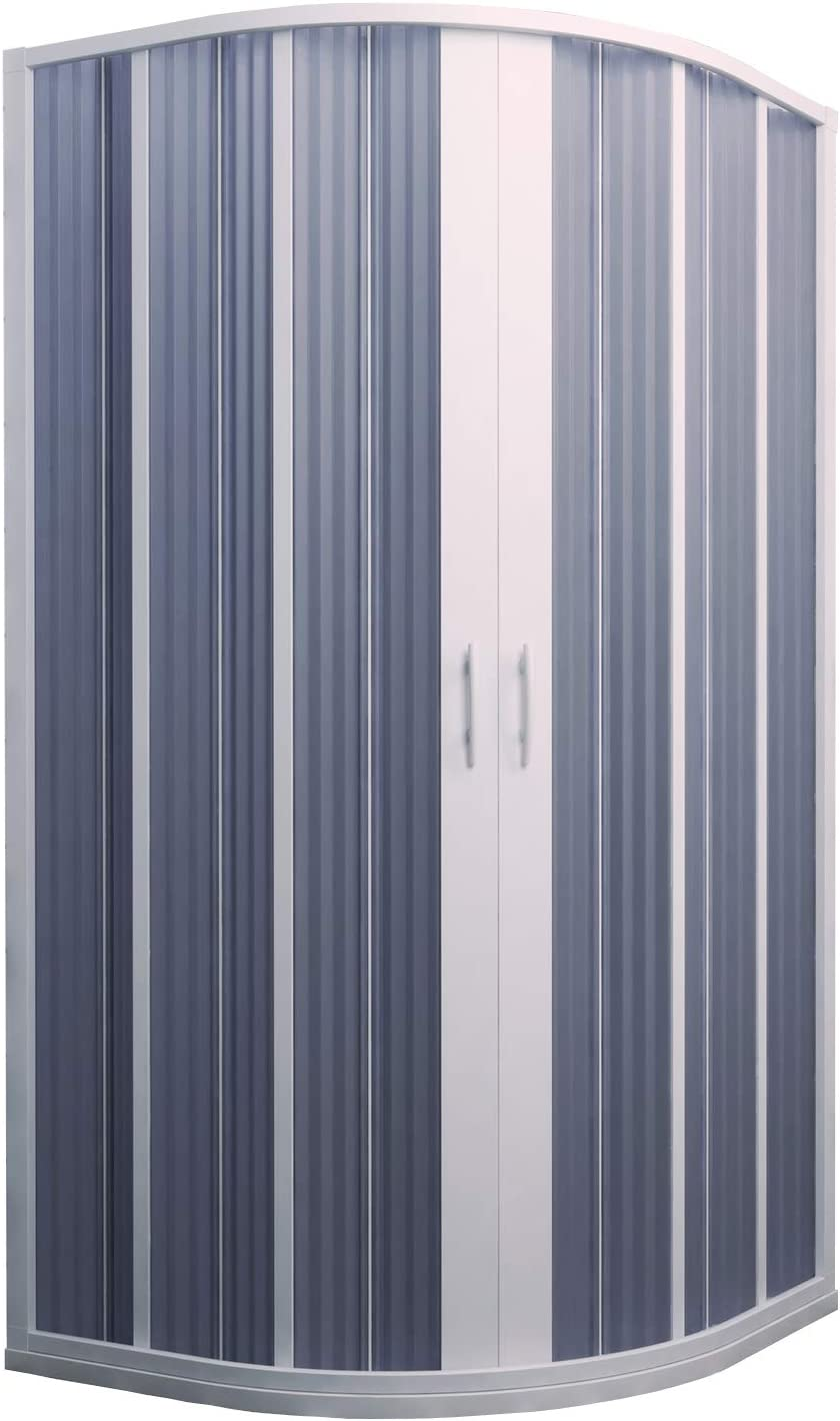 Cabina de ducha fuelle semicircular Ap. Central 90-70 x 90-70 ...
