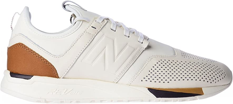 247 Luxe Classic White/Brown Mrl247be