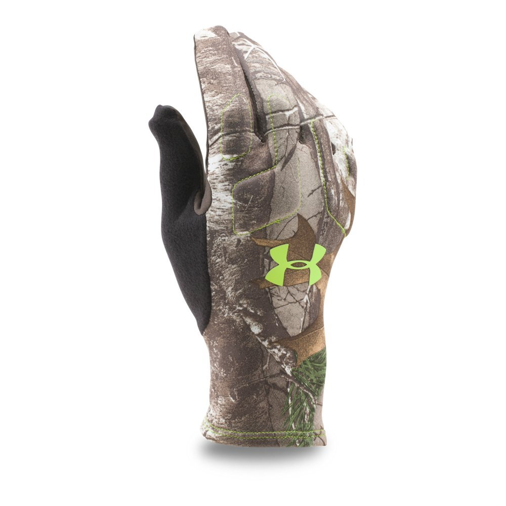 Under Armour Men's Scent Control 2 Hunting Gloves, Realtree Ap-Xtra (946), Medium by Under Armour
