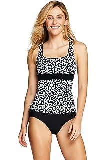 3d92448d1f3e6 Lands' End Women's Square Neck Underwire Tankini Top Swimsuit Print